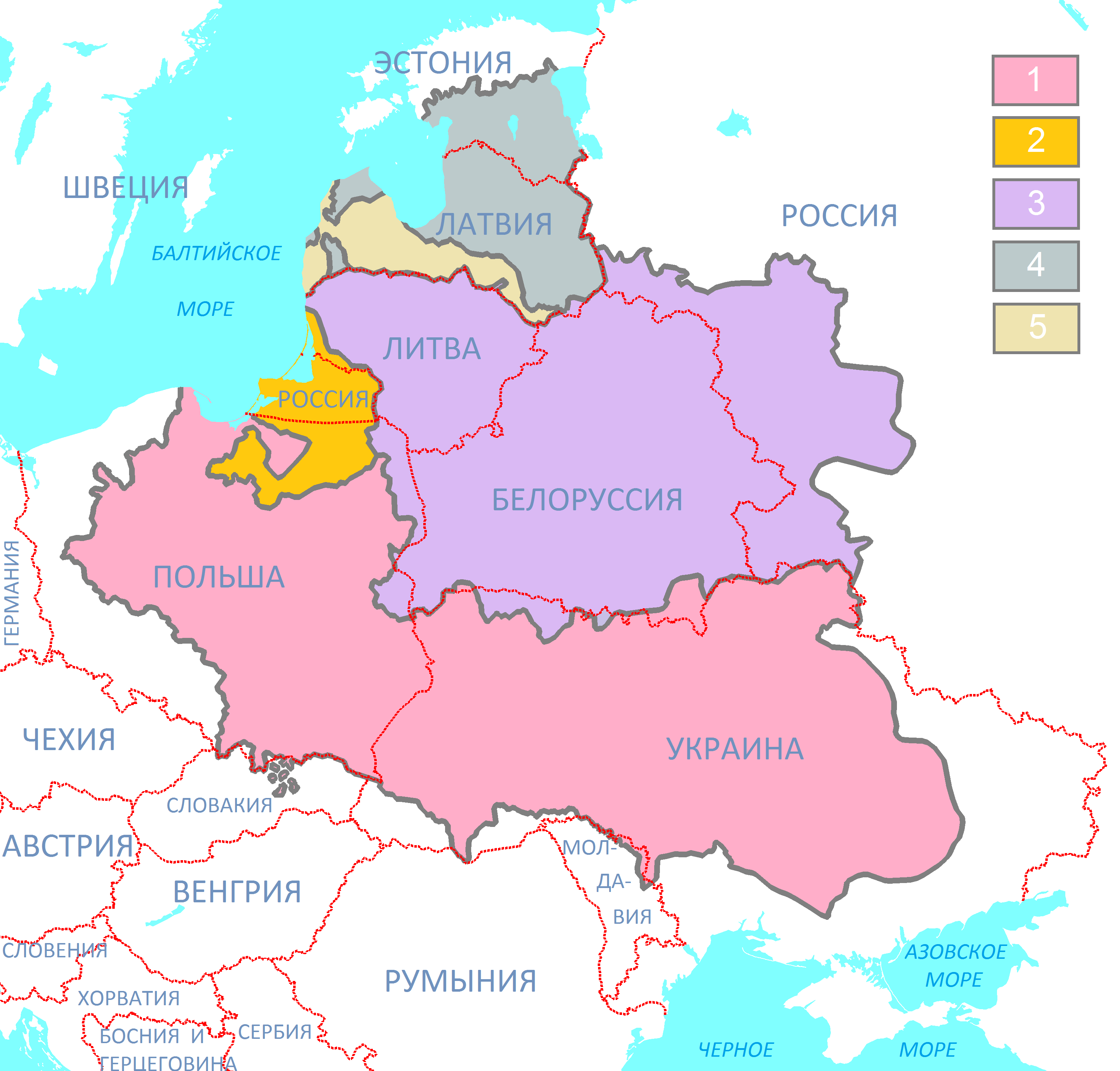 Polish-Lithuanian_Commonwealth_(1619)_compared_with_today's_borders_(Russian_version).png